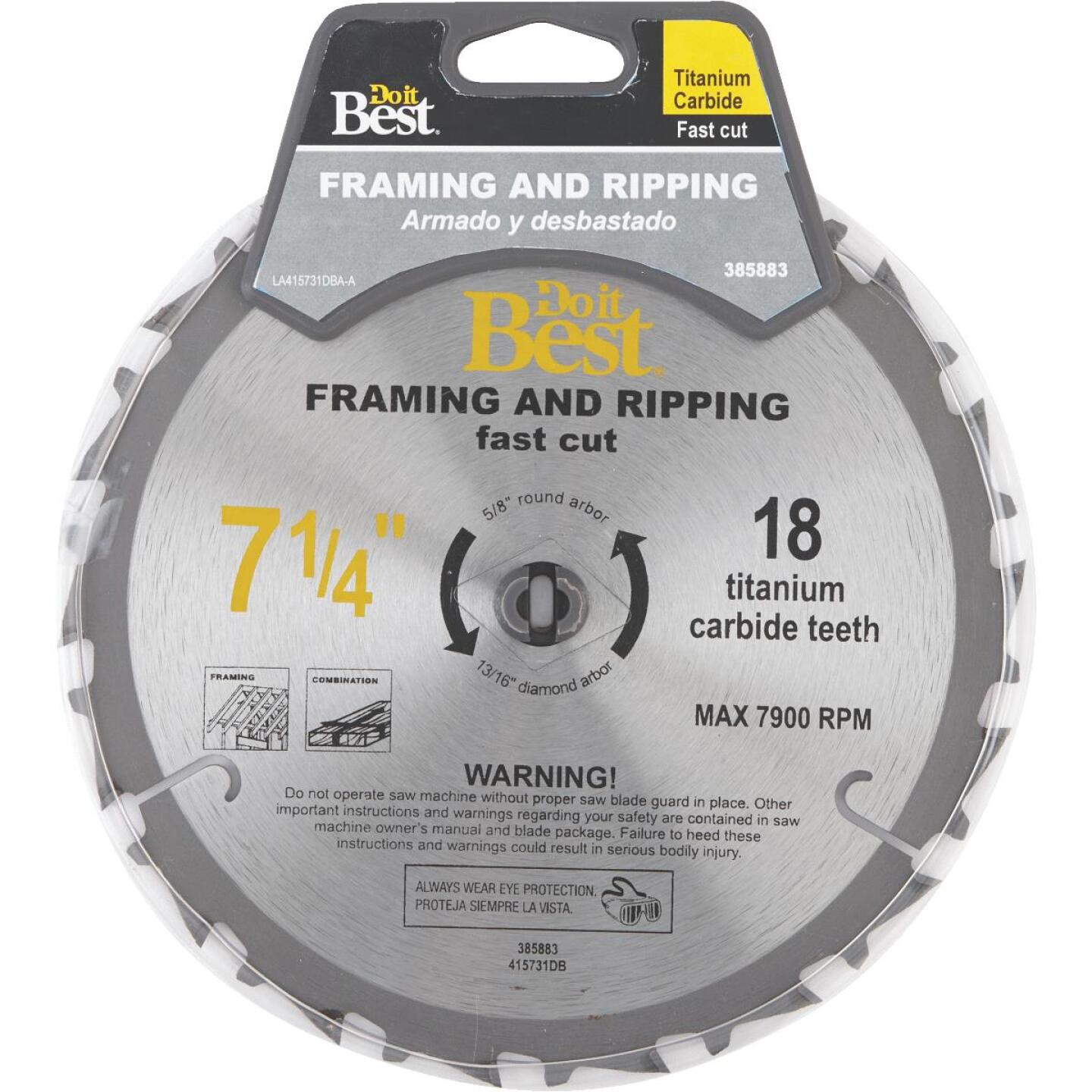 Do it Best Professional 7-1/4 In. 18-Tooth Ripping Circular Saw Blade Image 1