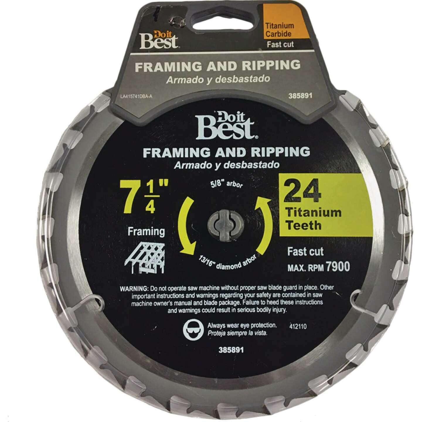 Do it Best Professional 7-1/4 In. 24-Tooth Framing & Ripping Circular Saw Blade Image 1