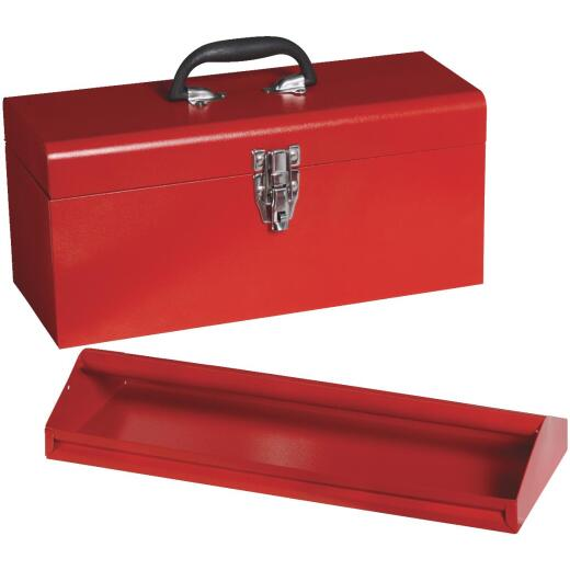 17 In. Red Steel Toolbox
