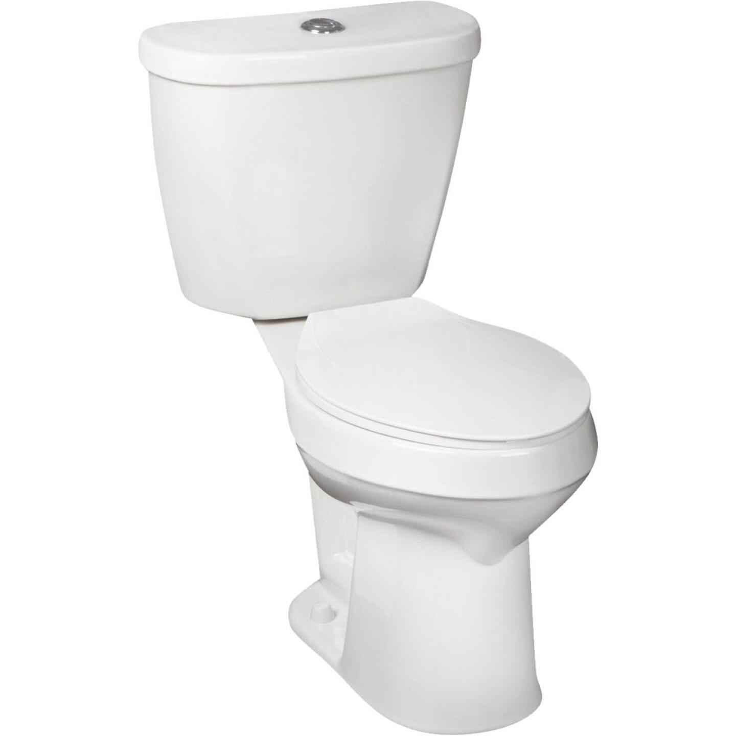 Mansfield Summit SmartHeight White Elongated Bowl 1.1 or 1.6 GPF Dual Flush Toilet Kit Image 2