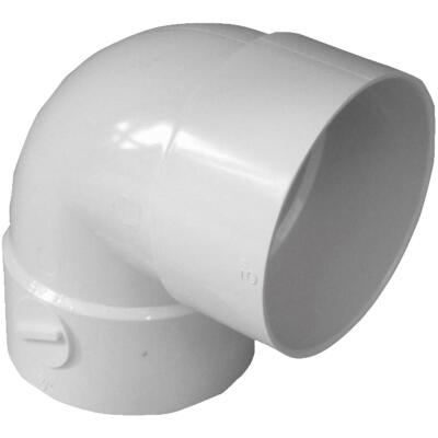 IPEX Canplas SDR 35 90 Degree 3 In. PVC Sewer and Drain Short Turn Elbow (1/4 Bend)