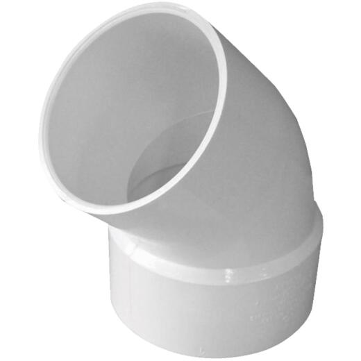 IPEX Canplas SDR 35 45 Degree 3 In. PVC Sewer and Drain Elbow Street (1/8 Bend)