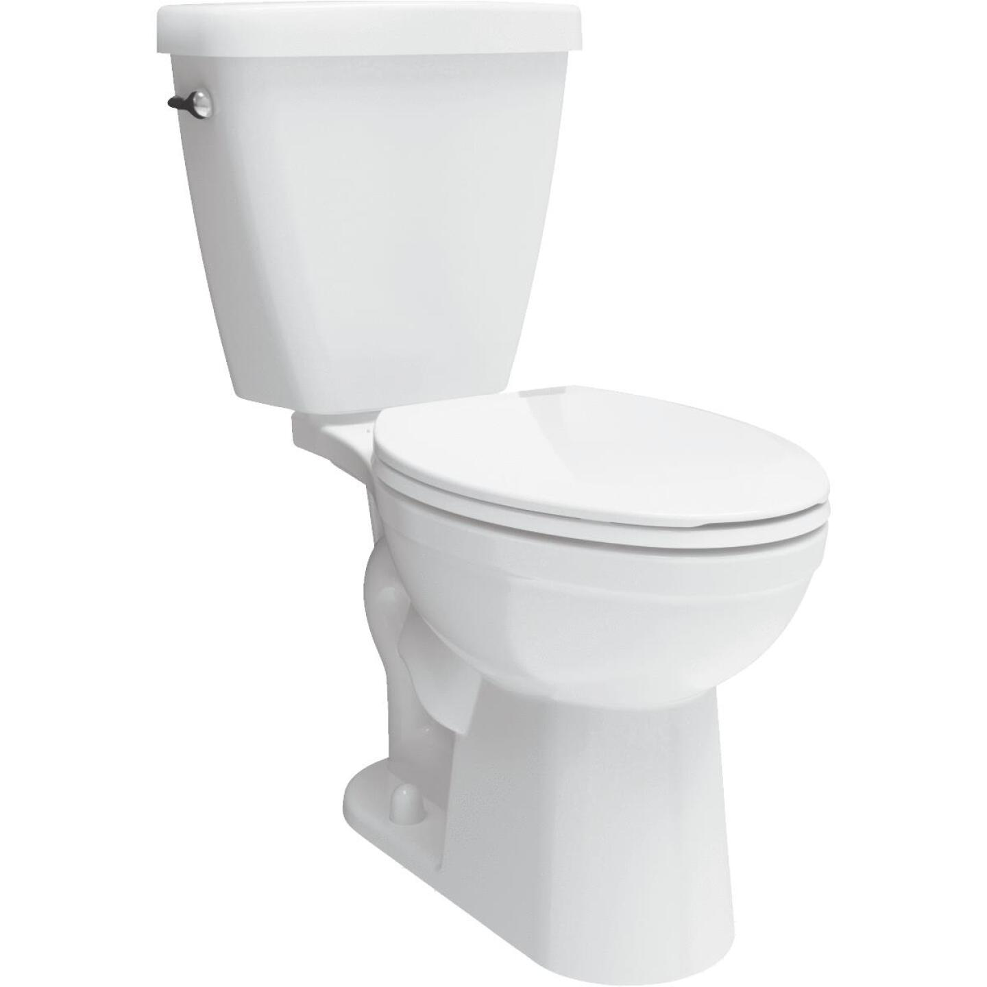 Delta Prelude White Elongated Bowl 1.28 GPF Toilet Image 1