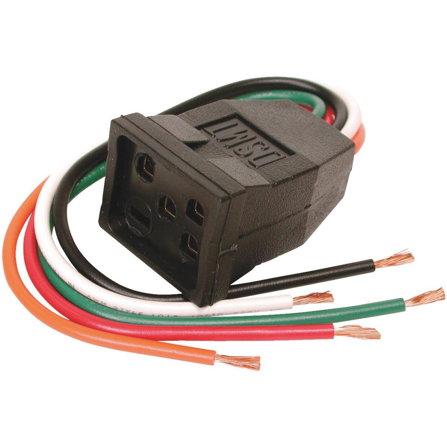 Dial 115V & 230V/15A Pigtail Motor Receptacle for 1 or 2-Speed Motors up to 1 HP Image 1