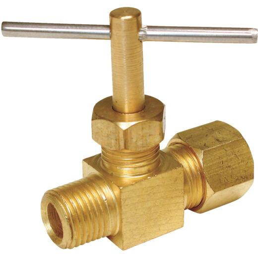 Dial 1/4 In. cc x 1/8 In. FPT Straight Needle Evaporative Cooler Valve