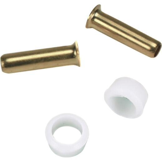 Delrin 1/4 In. Poly Tube Insert Adapter (2-Pack)