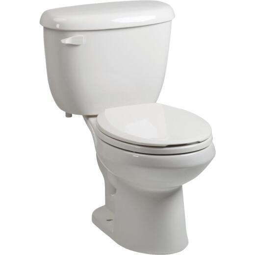 Briggs ComfortFit White Round Bowl 1.28 GPF Toilet Express