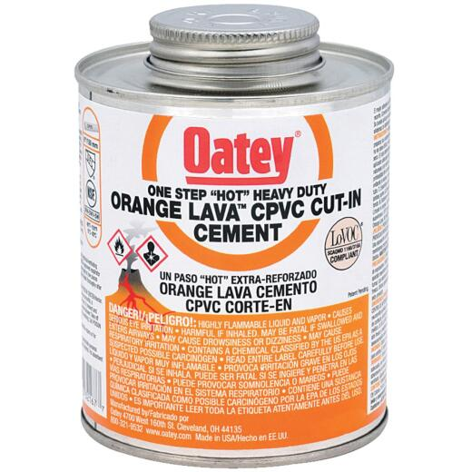 Oatey Lava 1 Pt.Lava Hot CPVC Cement Orange CPVC Cement