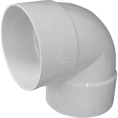 IPEX Canplas SDR 35 90 Degree 6 In. PVC Sewer and Drain Short Turn Elbow (1/4 Bend)