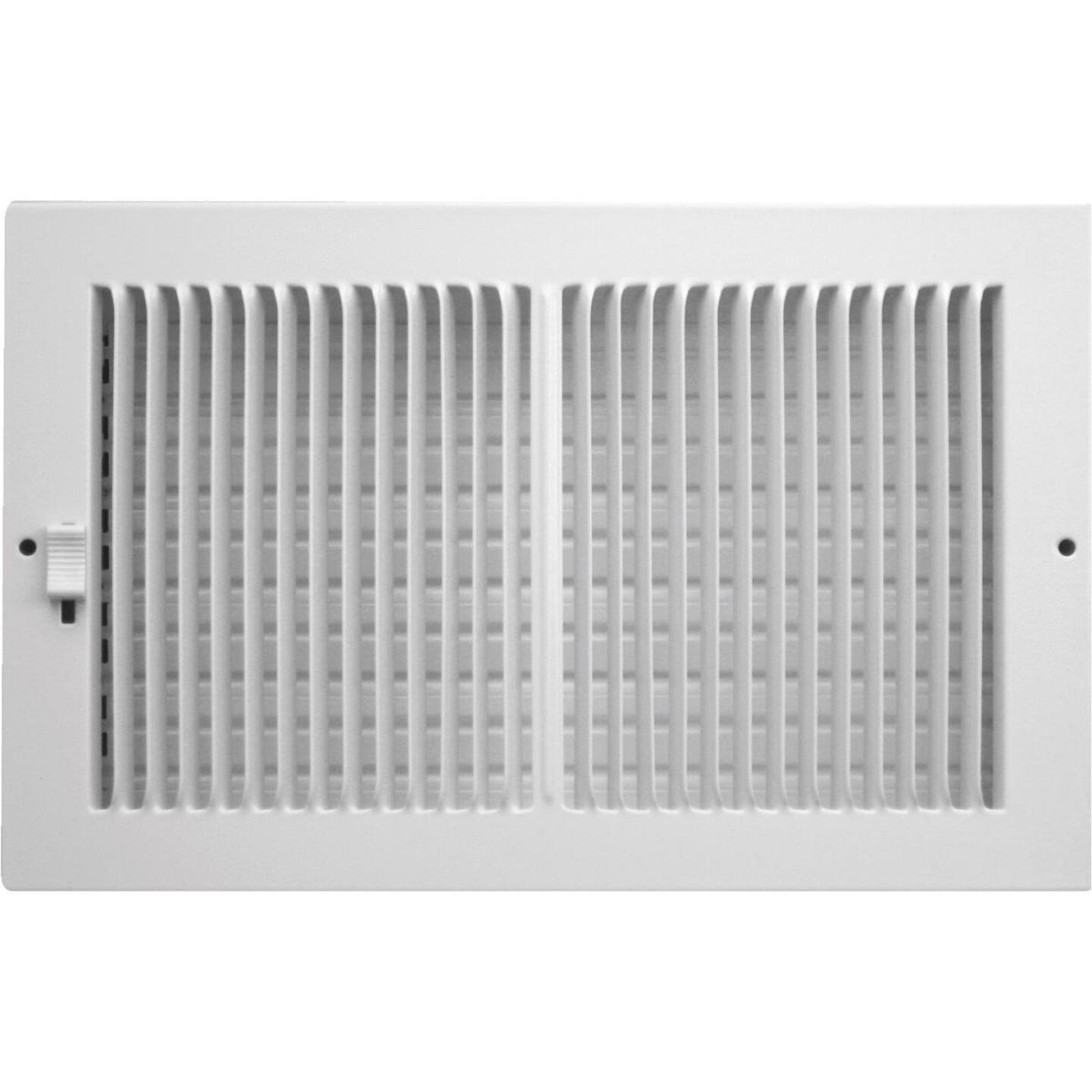 Accord 10 In. x 6 In. White Wall Register Image 1