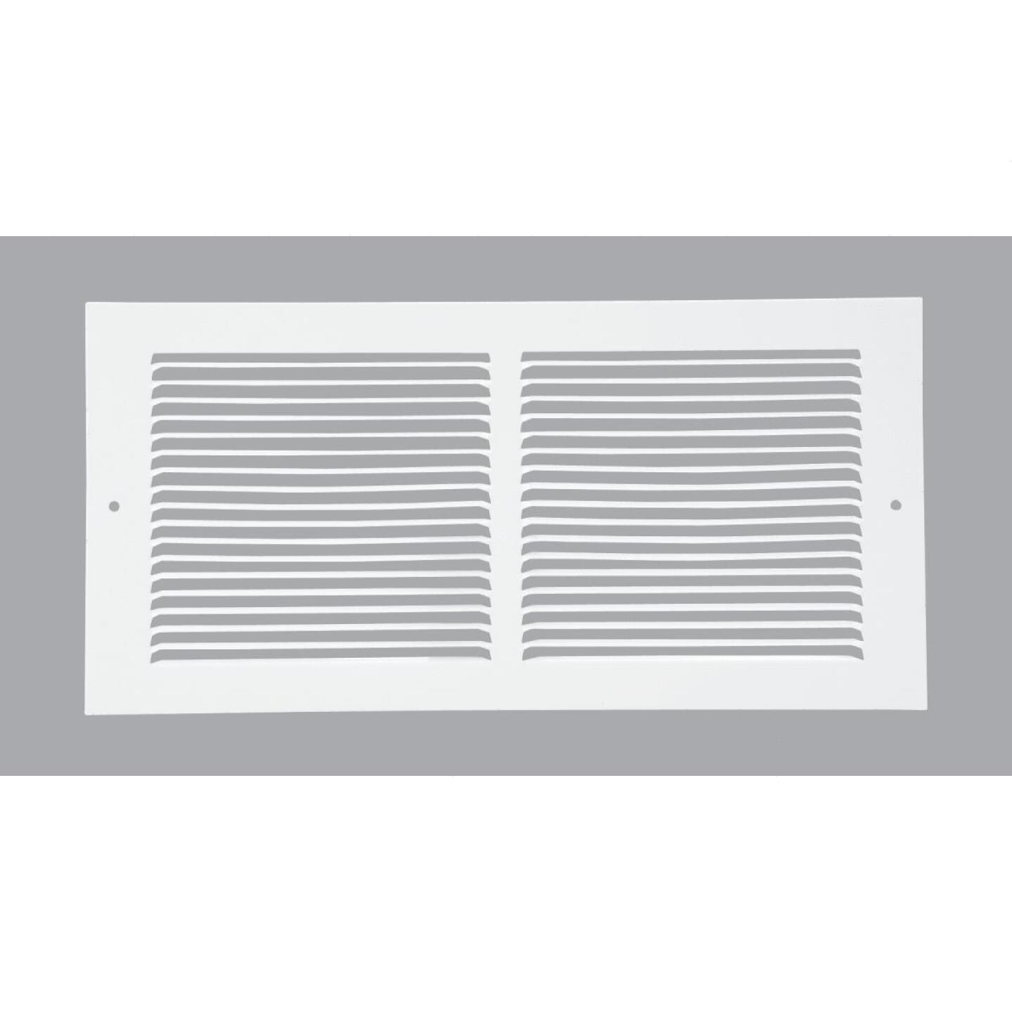 Home Impressions 6 In. x 14 In. White Steel Baseboard Grille Image 1