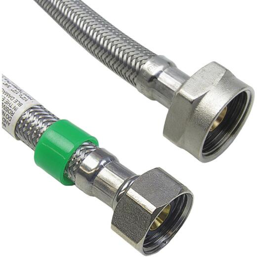 Lasco 1/2 IPS x 7/8 BC x 20 Braided Stainless Steel Flex Line Toilet Connector
