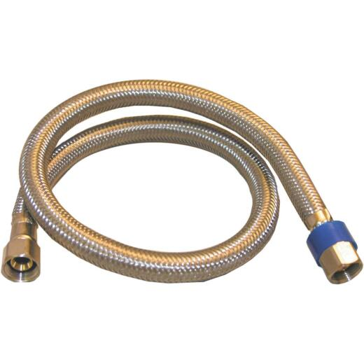 Lasco 3/8 In.C x 3/8 In.C x 24 In.L Braided Stainless Steel Flex Line Appliance Water Connector