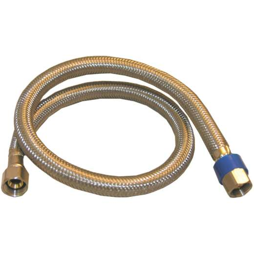 Lasco 3/8 In.C x 3/8 In.C x 36 In.L Braided Stainless Steel Flex Line Appliance Water Connector