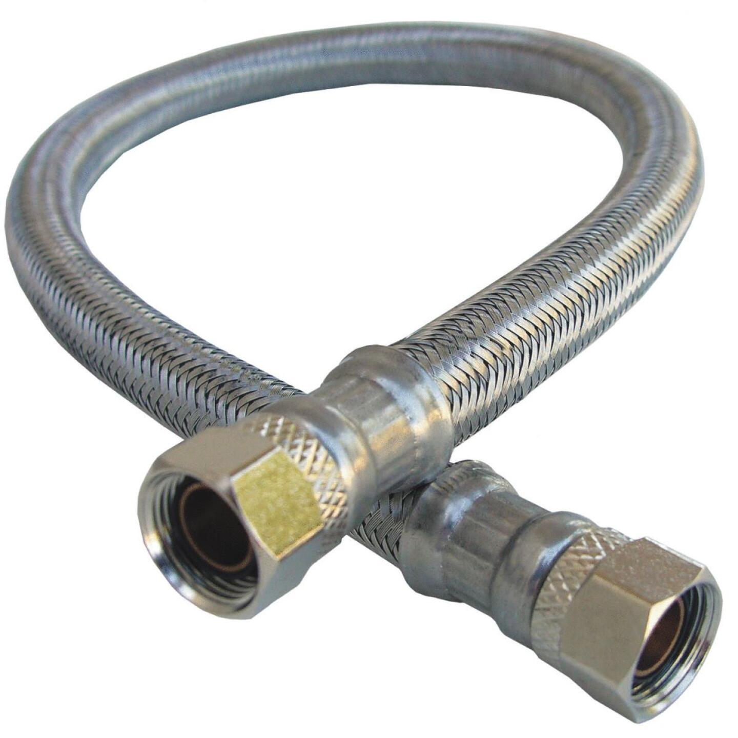 Lasco 3/8 In.C x 3/8 In.C x 20 In.L Braided Stainless Steel Flex Line Appliance Water Connector Image 1