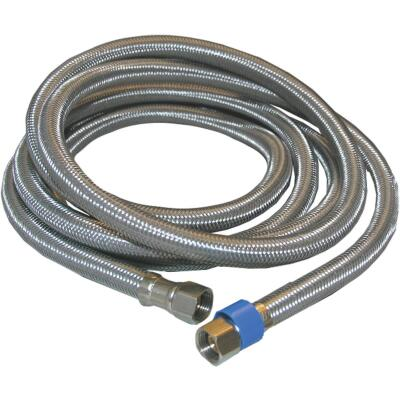 Lasco 3/8 In.C x 3/8 In.C x 96 In.L Braided Stainless Steel Flex Line Appliance Water Connector