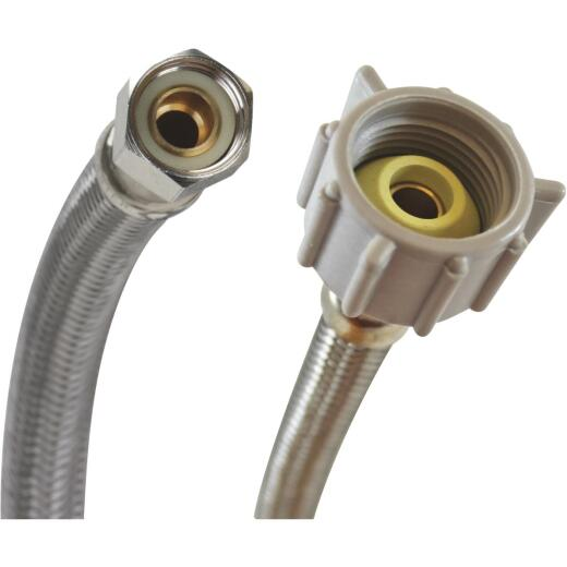 "Fluidmaster 3/8"" Comp x 7/8"" Ballcock x 20"" L Braided Stainless Steel Toilet Connector"