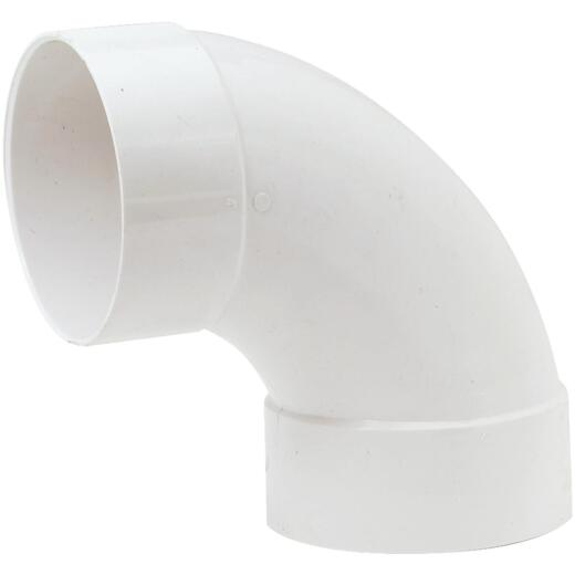 IPEX Canplas SDR 35 90 Degree 4 In. PVC Sewer and Drain Sanitary Elbow (1/4 Bend)
