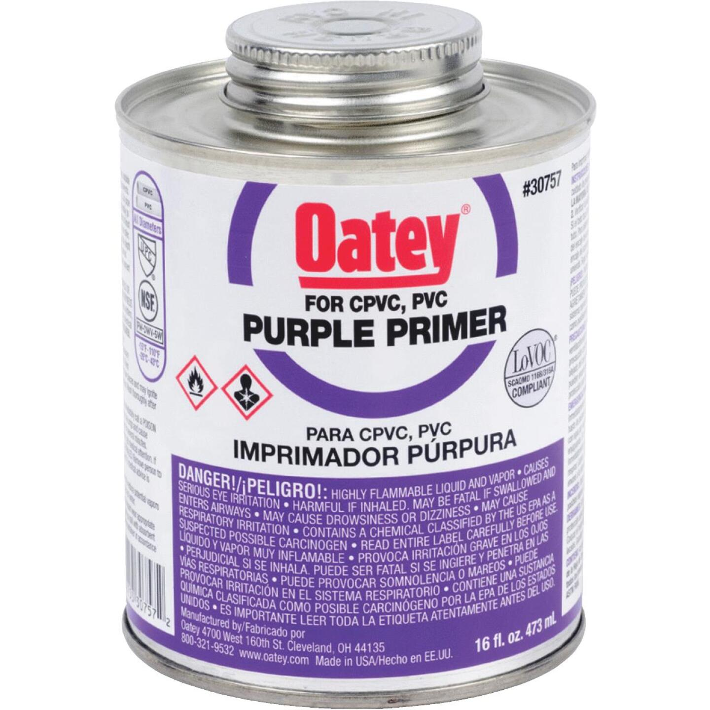 Oatey 16 Oz. Purple Pipe and Fitting Primer for PVC/CPVC Image 1