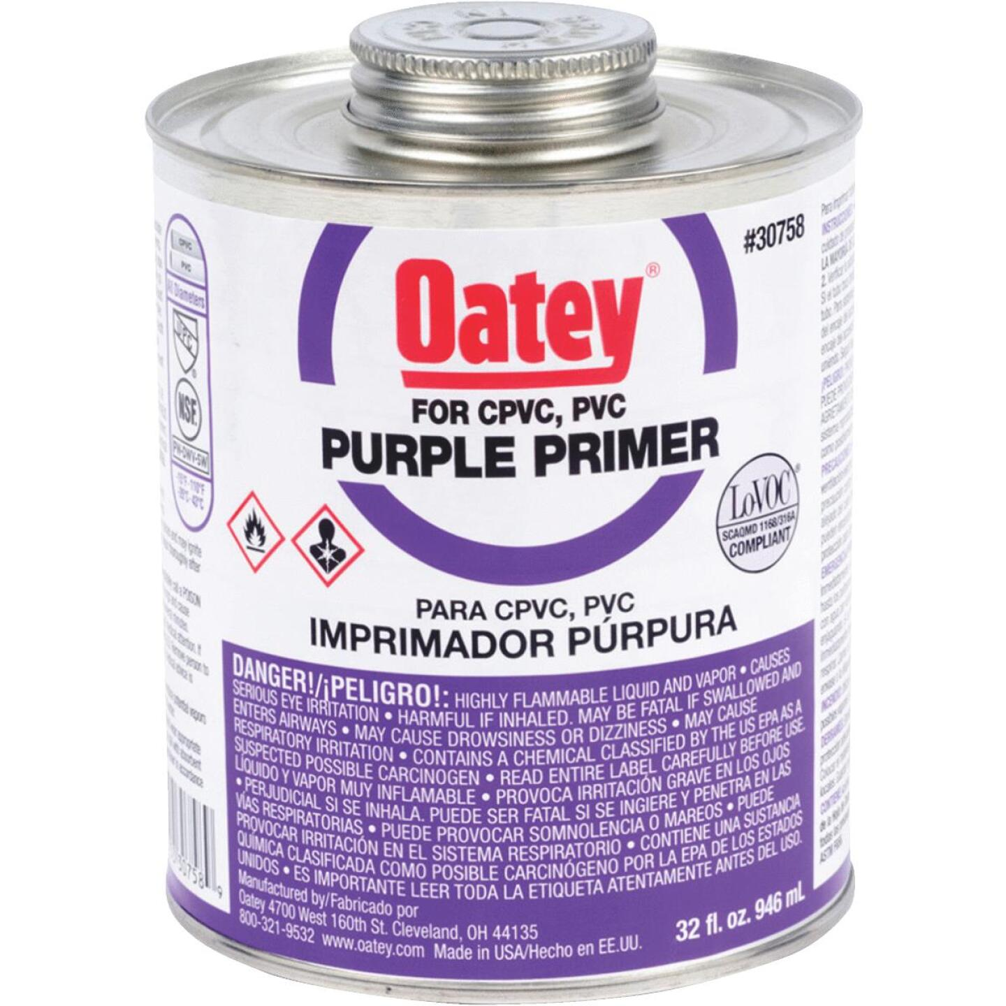 Oatey 32 Oz. Purple Pipe and Fitting Primer for PVC/CPVC Image 1