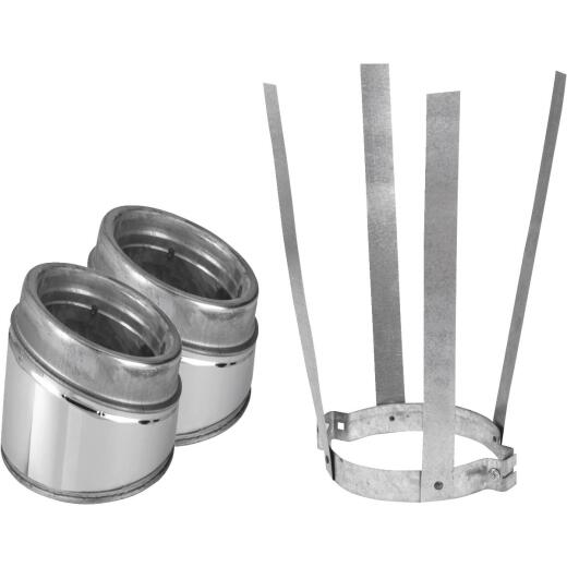 SELKIRK Sure-Temp 30 Degree 6 In. Stainless Steel Insulated Elbow Kit