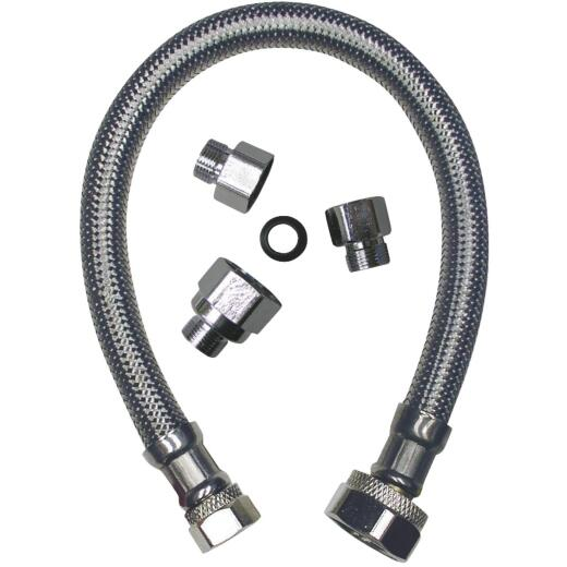 B&K 20 In. Universal Kit Stainless Steel Faucet Connector