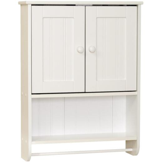 Zenith Country Cottage White 21-5/8 In. W. x 25-3/4 In. H. x 6-3/4 In. D. Wood Wall Bath Cabinet