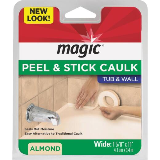 Magic 1-5/8 In. x 11 Ft. Almond Caulk Strip