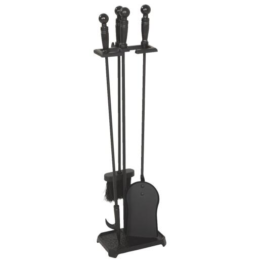 Home Impressions 4-Piece Cast Iron 28 In. H Fireplace Tool Set
