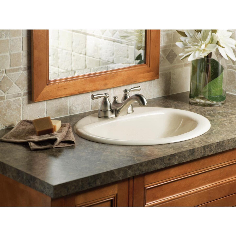Moen Banbury Brushed Nickel 2-Handle Lever 4 In. Centerset Bathroom Faucet with Pop-Up Image 3