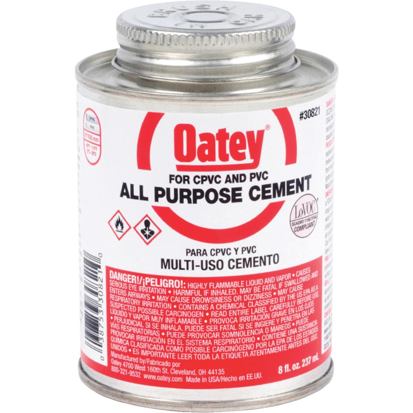 Oatey 8 Oz. Heavy Bodied Clear Multi Purpose Cement Image 1