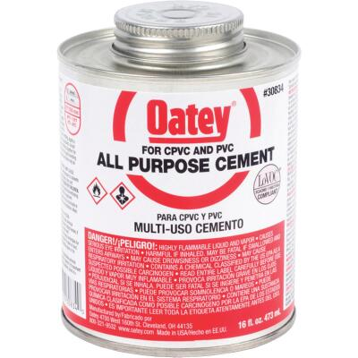 Oatey 16 Oz. Heavy Bodied Clear Multi Purpose Cement