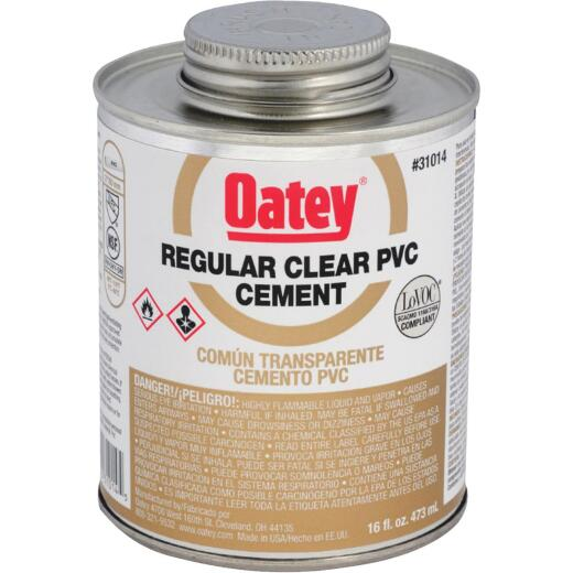 Oatey 16 Oz. Regular Bodied Clear PVC Cement