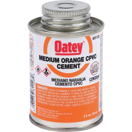 Oatey 4 Oz. Medium Bodied Orange CPVC Cement