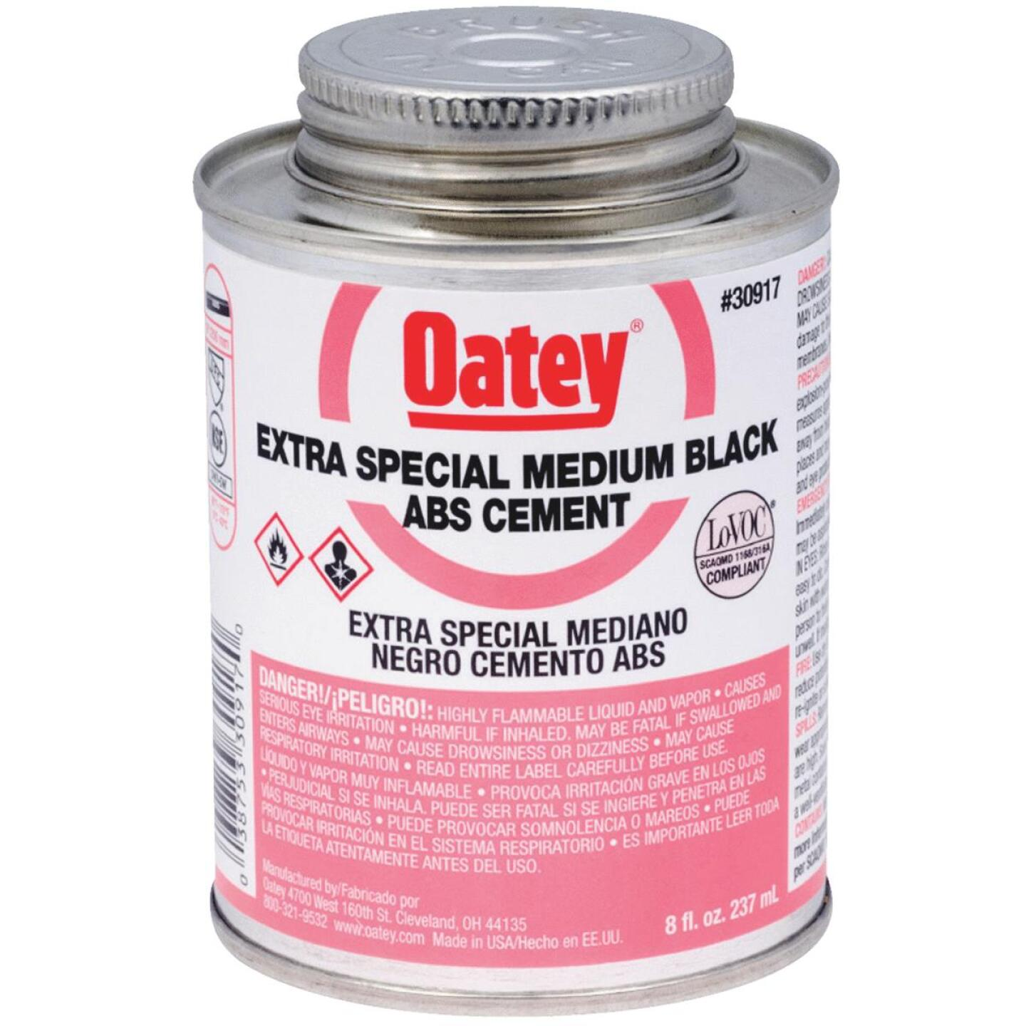 Oatey 8 Oz. Medium Bodied Black Extra Special ABS Cement Image 1
