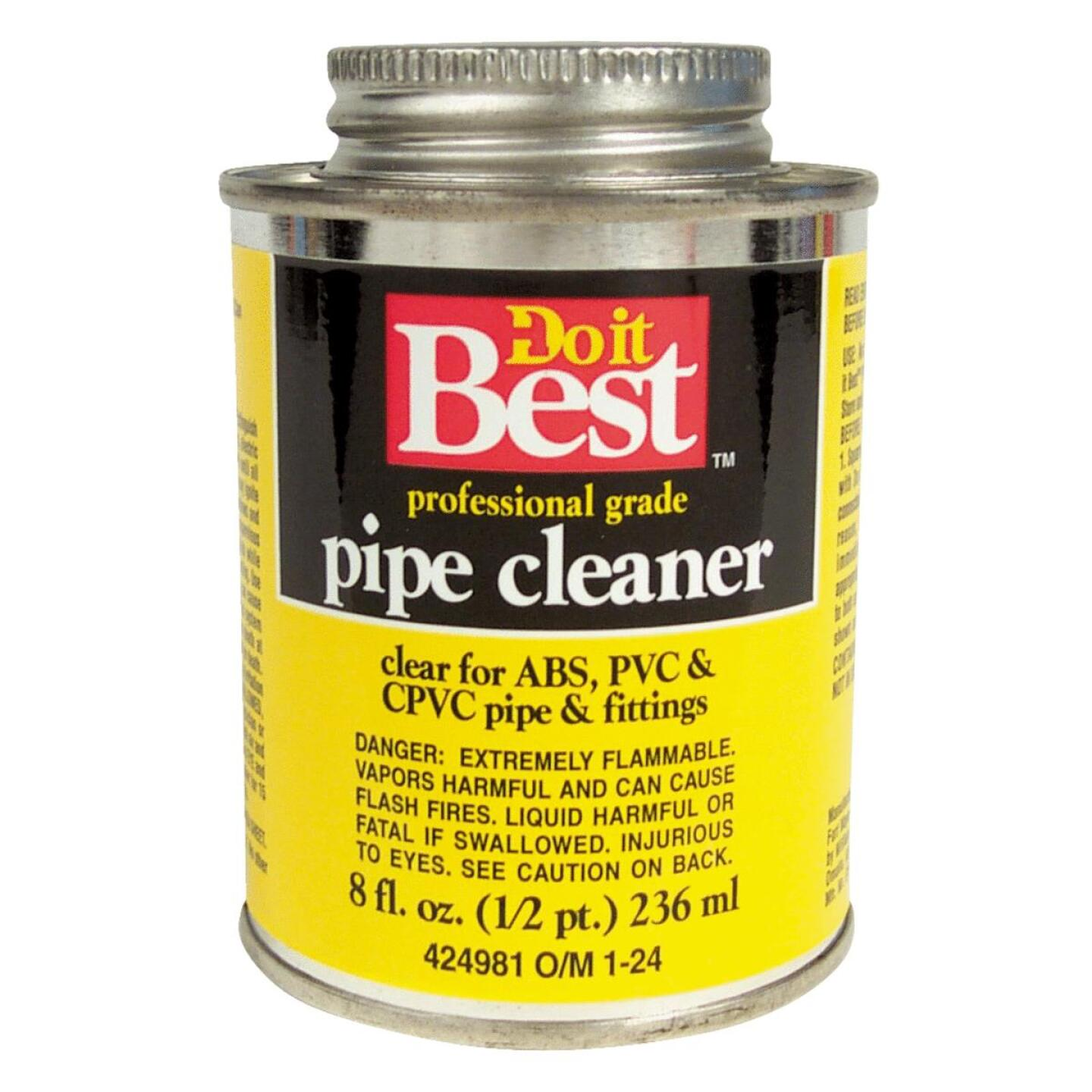 Do it Best 8 Oz. All-Purpose Pipe Clear PVC Cleaner Image 1