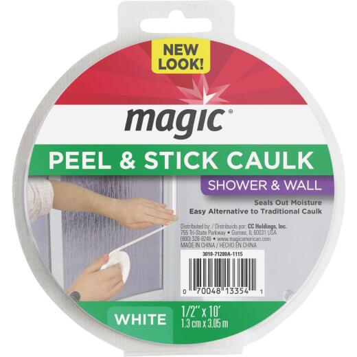 Magic 1/2 In. x 10 Ft. White Caulk Strip