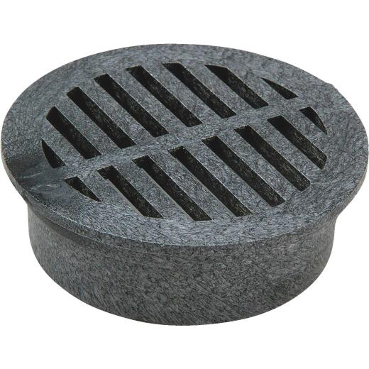 NDS 3 In. Black PVC Round Grate