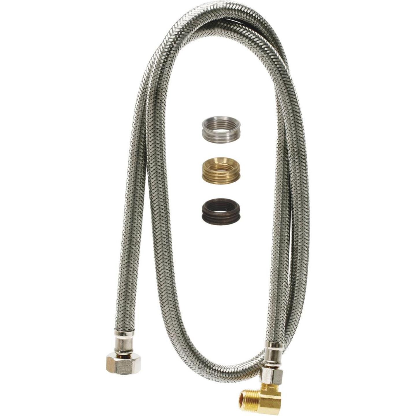 Fluidmaster Universal Fit 60 In. Braided Stainless Steel Dishwasher Connector Image 2