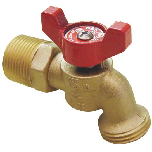 B & K ProLine Quartermaster Series 1/2 In. MIP X 3/4 In. Male Hose Thread Brass Hose Bibb