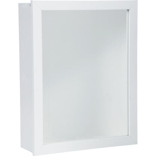 Zenith White 16 In. W x 22 In. H x 5 D Single Mirror Surface/Recess Mount Framed Medicine Cabinet