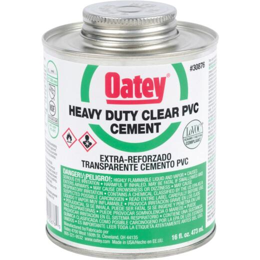 Oatey 16 Oz. Heavy Bodied Clear PVC Cement