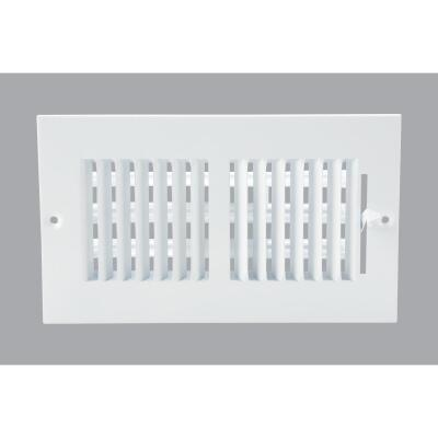 Home Impressions White Steel 5.75 In. Wall Register