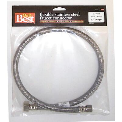 Do it Best 3/8 In. C X 1/2 In. F X 30 In. L Stainless Steel Faucet Connector