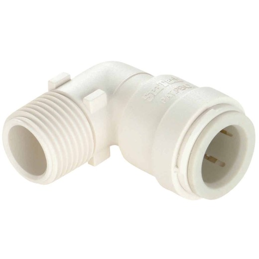 Watts 1/2 In. CTS x 1/2 In. MPT Quick Connect Plastic Elbow