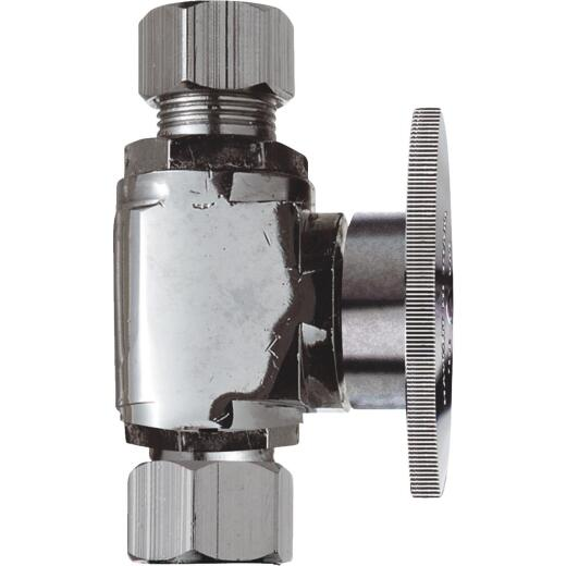 Do it 3/8 In. C X 3/8 In. OD Chrome Plated Brass Stop Valve