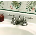 Home Impressions Brushed Nickel 2-Handle Lever 4 In. Centerset Bathroom Faucet with Pop-Up Image 2