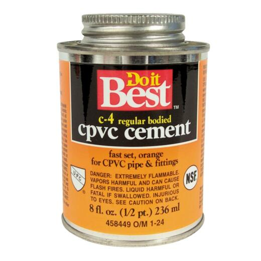 Do it Best 8 Oz. Regular Bodied Orange CPVC Cement