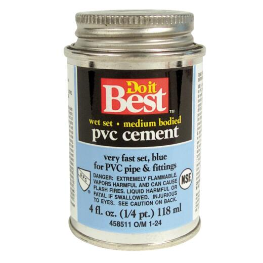 Do it Best 4 Oz. Medium Bodied Blue PVC Cement
