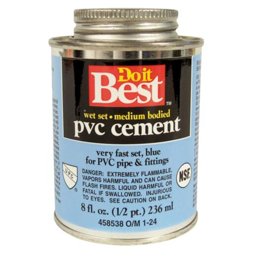 Do it Best 8 Oz. Medium Bodied Blue PVC Cement